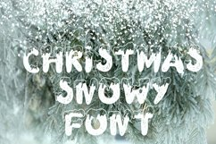 Handdrawn snowy display font Product Image 2