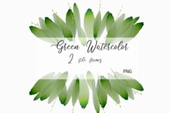 Foliage Clipart Green Watercolor Frame Product Image 2