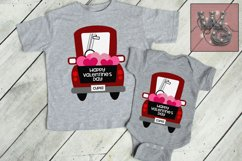 Whimsy Valentine Truck SVG DFX PNG EPS Commercial Product Image 1