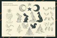 Abstract Linear Christmas Winter wonderland Clipart Product Image 3