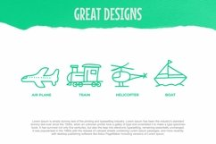 Web Font Child Transport Dingbats Font Product Image 2