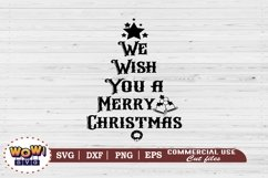 We wish you a merry christmas, Christmas Sign svg, Dxf, Png Product Image 2