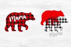 Mama bear svg Mama bear christmas Buffalo plaid christmas Product Image 2