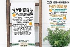 Peach Cobbler Recipe SVG | Kitchen SVG | SVG DXF Files Product Image 1