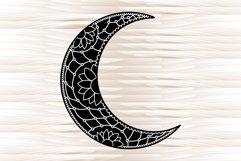 Moon mandala, mandala svg, zentangle svg Product Image 2