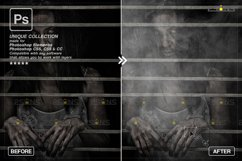 Smoke backgrounds & Smoke bomb overlay, Photoshop overlay Product Image 3