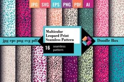 Multicolor Leopard Print Seamless Pattern Product Image 1