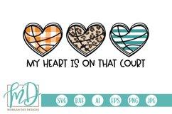 Basketball Mom - Basketball Heart Trio - Basketball SVG Product Image 2