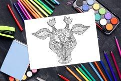 Cute Giraffe Watercolor Tropical Safari, African, Jungle Product Image 5