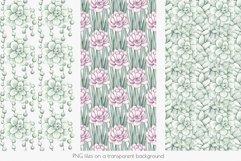 "Watercolor Pattern Set ""Succulents"" Product Image 3"