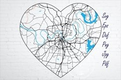 Nashville Tennessee city road map svg, eps, dxf, png, jpg Product Image 1