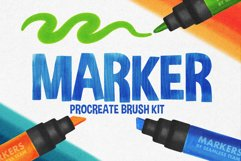 MARKER BRUSHES FOR PROCREATE 5 Product Image 1