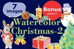 Watercolor Christmas-2bonus! Product Image 1