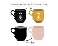 Coffee and Tea Cups Procreate Stamp Brush Product Image 2
