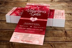 Red Hearts Valentines Gala Ticket Template Product Image 2