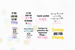 Funny Sleepy Quote SVG Bundle Volume 1 - Colorful Version Product Image 4