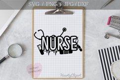 nurse svg, cutting file Product Image 2