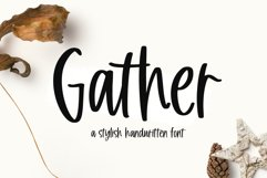 Gather - A Handwritten Font Product Image 1