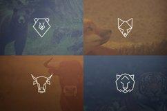 17 Geometric Animal Icons and Logos Product Image 2