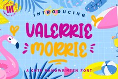 Valeerie Morrie - A Cute Handwriiten Font Product Image 1