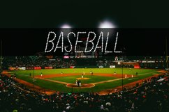 Baseball Stitch Font Product Image 1