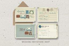 Vintage Stamp Wedding Invitation Product Image 5
