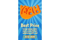 Best price concept banner, comics isometric style Product Image 1