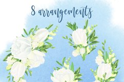 Watercolor white tulips and freesias Product Image 4