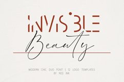 Invisible Beauty. Chic Duo Font. Product Image 1