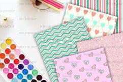 Teal Valentine Digital Paper Pack Product Image 3