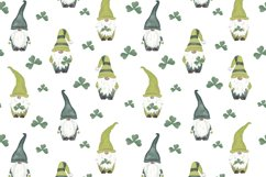 St Patrics day gnome seamless pattern Gnome digital paper Product Image 5