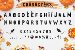 Spooky font with EXTRAS! Product Image 2