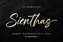 Sienthas / Script Handwritten Font Product Image 1