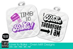 Love to Bake - Oven Mitt Designs - Kitchen SVG & Cut Files Product Image 4