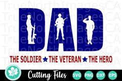Dad Soldier - A Patriotic SVG Cut File Product Image 1