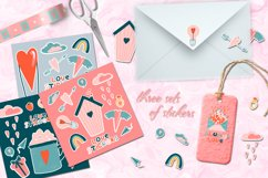 Romantic Valentine's Day. Love patterns, stickers and cards. Product Image 7