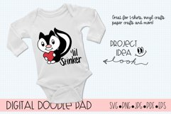 LiL Stinker Skunk SVG Cut Files for Cricut and Silhouette Product Image 2