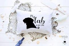 Black Labrador Retriever Dog Silhouette | Dog Mom SVG Files Product Image 5