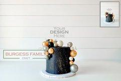 Mockup Dark Cake Topper | JPEG Product Image 1