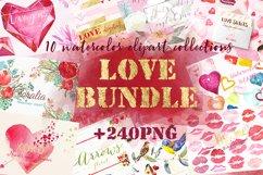Love watercolor bundle. Valentine. Product Image 1