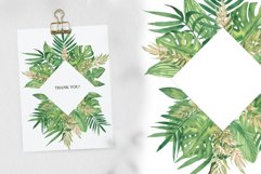 Watercolor Tropical leaves Frames Set Product Image 2