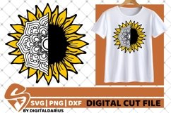 Sunflower Mandala svg, Yellow Flower svg, Zentangle svg, Sun Product Image 2
