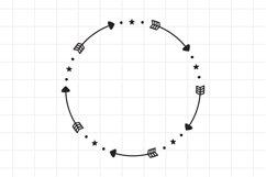 Circle Arrow Svg, Arrow monogram frame cut file. Product Image 1