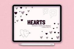 Procreate Stamps Shapes Brushes Procreate Heart Product Image 1