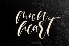 Web Font Moon heart script font Product Image 1