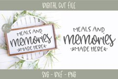 Meals And Memories Made Here - Kitchen SVG Cut File Product Image 1