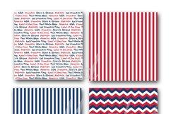 Patriotic Digital Paper Product Image 2