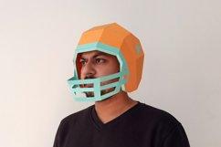DIY Football Helmet - 3d papercraft Product Image 1