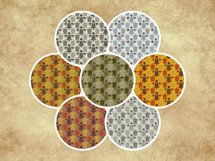 Sea Turtle and Seashells Fall Color Palette Seamless Pattern Product Image 3