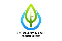 Eco water drop logo design vector Product Image 1